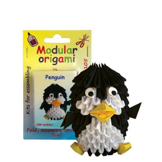 Kit Origami Pinguim