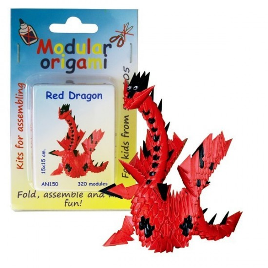 Kit Origami Dragão
